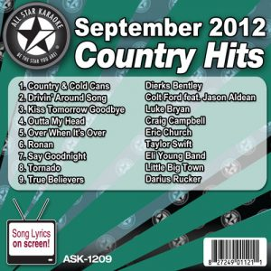 Karaoke Korner - Sept 2012 Country Hits Volume 1