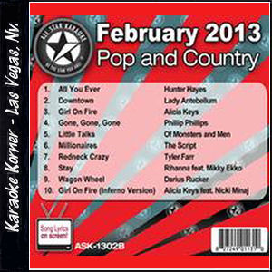 Karaoke Korner - February 2013 Pop and Country Hits Volume B