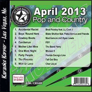 Karaoke Korner - April 2013 Pop and Country Hits B