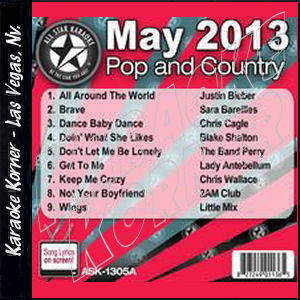 Karaoke Korner - May 2013 Pop and Country Hits A