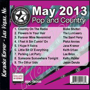 Karaoke Korner - May 2013 Pop and Country Hits B