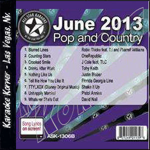 Karaoke Korner - June 2013 Pop and Country Hits B