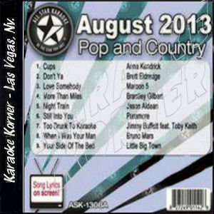 Karaoke Korner - August 2013 Pop and Country Hits A