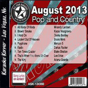 Karaoke Korner - August 2013 Pop and Country Hits B