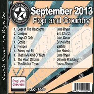 Karaoke Korner - September 2013 Pop and Country Hits A