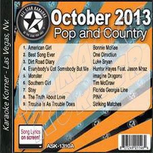 Karaoke Korner - October 2013 Pop and Country Hits A
