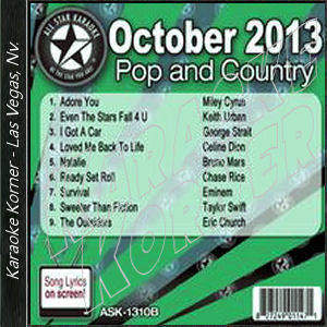 Karaoke Korner - October 2013 Pop and Country Hits B