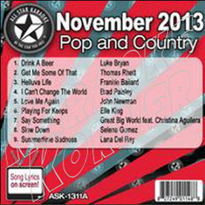 Karaoke Korner - November 2013 Pop and Country Hits A