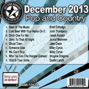 Karaoke Korner - December 2013 Pop and Country Hits A