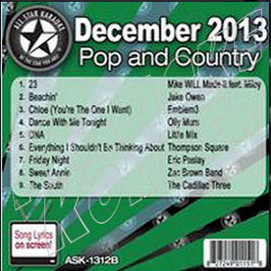 Karaoke Korner - December 2013 Pop and Country Hits B