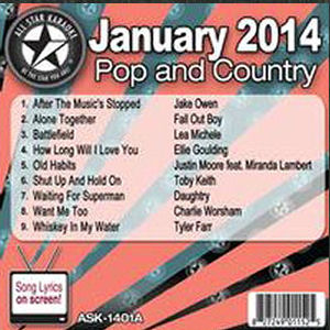 Karaoke Korner - January 2014 Pop and Country Hits A
