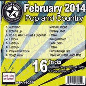 Karaoke Korner - February 2014 Pop and Country Hits B