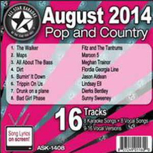 Karaoke Korner - August 2014 Pop and Country Hits