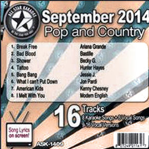 Karaoke Korner - September 2014 Pop and Country Hits