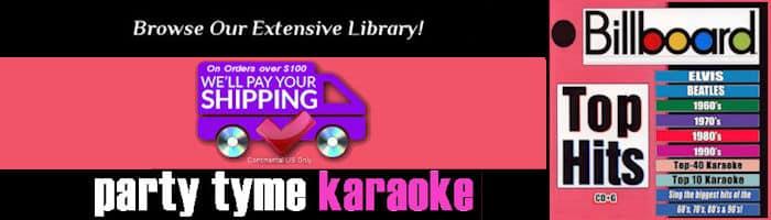 Party Tyme Karaoke Billboard