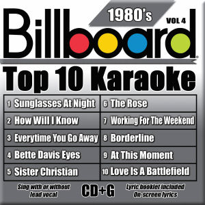 Karaoke Korner - BILLBOARD TOP 10 KARAOKE - 80s vol 4