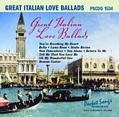 Karaoke Korner - GREAT ITALIAN LOVE BALLADS