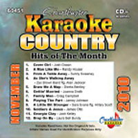 Karaoke Korner - COUNTRY HITS NOVEMBER 2010