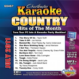 Karaoke Korner - Country Hits Of The Month - July 2011