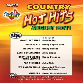 Karaoke Korner - COUNTRY HOT HITS MONTHLY AUGUST 2011