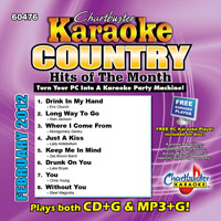 Karaoke Korner - COUNTRY HITS OF THE MONTH