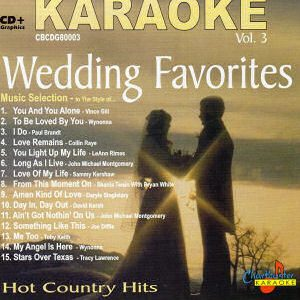 Karaoke Korner - Country Wedding Favorites