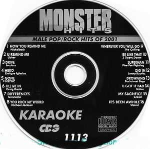 Karaoke Korner - Male Pop-Rock Of 2001