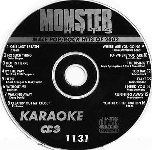 Karaoke Korner - Male Pop-Rock 2002
