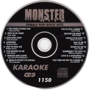 Karaoke Korner - Female Pop/Rock Hits