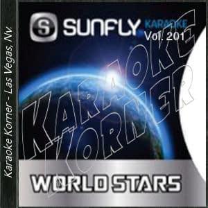 Karaoke Korner - Sunfly Karaoke World Stars Vol 201