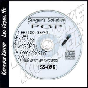 Karaoke Korner - Singer's Solution POP #26