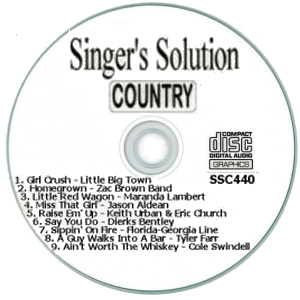Karaoke Korner - Singer's Solution Country #440