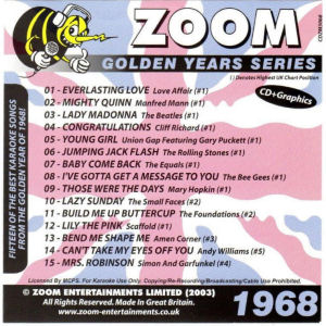 ZGY68 - Zoom Golden Years 1968