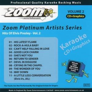 Karaoke Korner - Zoom Platinum Artists Vol 2 - Style of Elvis Presley