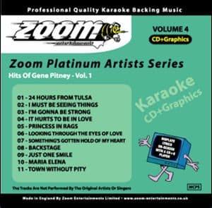 Karaoke Korner - Zoom Platinum Artists - Vol.4 - Style of Gene Pitney