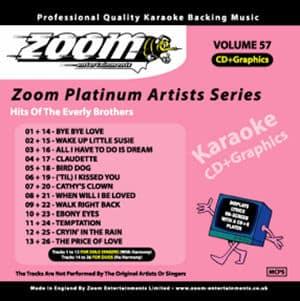 Karaoke Korner - Zoom Platinum Artists - Volume 57