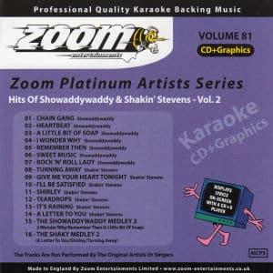 Karaoke Korner - Zoom Platinum Artists - Volume 81