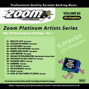 Karaoke Korner - Zoom Platinum Artists - Volume 82