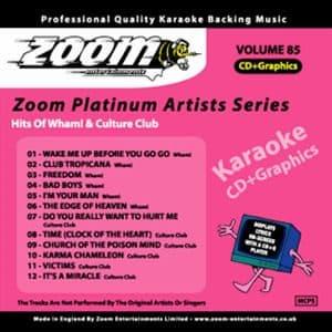 Karaoke Korner - Zoom Platinum Artists - Volume 85