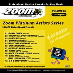 Karaoke Korner - Zoom Platinum Artists - Volume 86