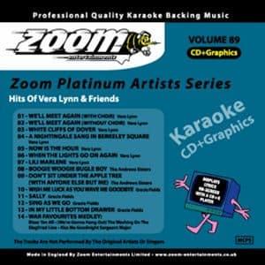 Karaoke Korner - Zoom Platinum Artists - Volume 89