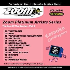 Karaoke Korner - Zoom Platinum Artists - Volume 91
