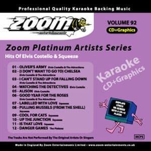 Karaoke Korner - Zoom Platinum Artists - Volume 92
