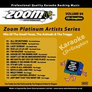 Karaoke Korner - Zoom Platinum Artists - Volume 94
