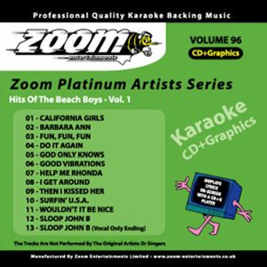 Karaoke Korner - Zoom Platinum Artists - Volume 96