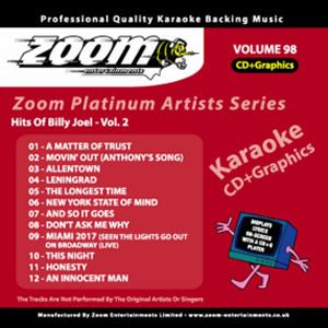 Karaoke Korner - Zoom Platinum Artists - Volume 98