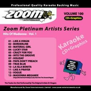 Karaoke Korner - Zoom Platinum Artists - Volume 100