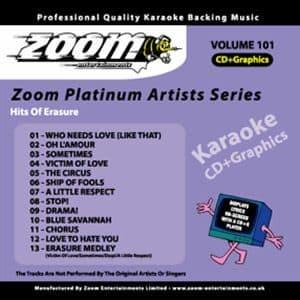 Karaoke Korner - Zoom Platinum Artists - Volume 101