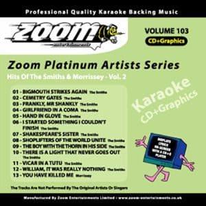 Karaoke Korner - Zoom Platinum Artists - Volume 103