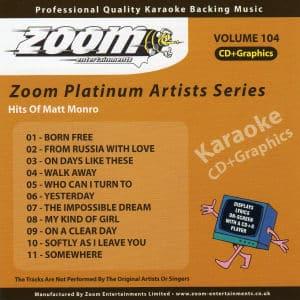 Karaoke Korner - Zoom Platinum Artists - Volume 104